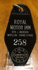 Vintage Royal Motor Hotel Room Key & Fob /W Harolds' Club Reno Ad Moscow, Idaho
