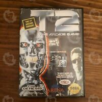T2: The Arcade Game  Sega Genesis Complete W/ Case no Manual