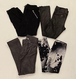 Justice, H&M Girls Leggings Size 7-9 Lot 4