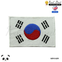 South Korea National Flag  Embroidered Iron On Sew On Patch Badge For Clothes