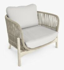 John Lewis & Partners Cradle Rope Garden Lounging Armchair - Natural A