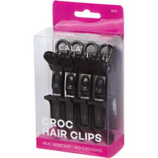 CROC HAIR CLIPS (BLACK-4PCS.)