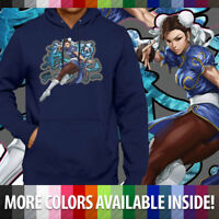 Chun Li Street Fighter Video Arcade Gaming Unisex Pullover Hoodie Hooded Sweater