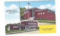 AL Anniston Alabama antique linen post card 2 Views of Diff Buildings