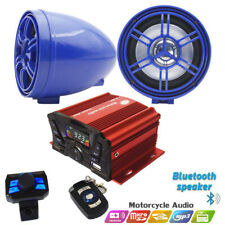 Waterproof ATV/UTV Amplifier Bluetooth Boat Audio System Motorcycle MP3+Speakers
