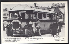 Dorset Postcard - Bournemouth 1930 Thornycroft Bus at Bournemouth Pier  DR767