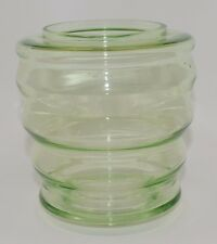 Villeroy & Boch Signed Art Deco Vaseline Green Vase