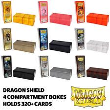 More details for dragon shield 4 compartment trading card deck box storage yugioh pokemon mtg