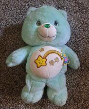 """Wish Bear Care Bear Glitter Glow 13"""" Plush Stuffed Animal  2006 Glow in the Dark"""
