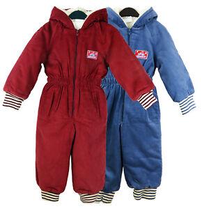KIDS BABY WINTER WARM FLEECE JUMPSUIT ALL IN ONE CHILDRENS BOYS GIRLS 1-4YRS