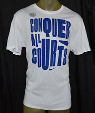 New NIKE CONQUER ALL COURTS DRI-FIT T-Shirt Mens 2XL 2X-LARGE WHITE BASKETBALL