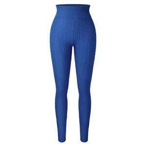 New Women Butt Lift Yoga Pants High Waist TikTok Leggings Textured Booty Tights