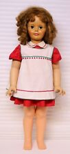 Patty Play Pal by Ideal 1960 Dark Blond green eyes red dress white pinafore