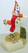 Ronald Ron Lee Clown Figurine 1979 Roller Skating Skates Derby Gold Plated vtg