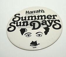 Rare 1970s NJ Harrah's Marina Hotel Casino Charlie Chaplin Giant Size Pin Button