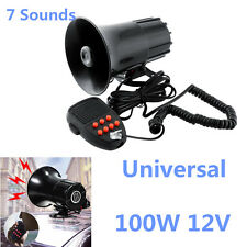 100W 150DB 12V 7 Sounds Car Warning Alarm Police Fire Siren Horn Speaker System