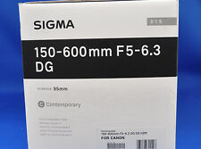 Sigma 150-600mm F5-6.3 DG OS HSM Contemporary For Canon Lens Japan Model New