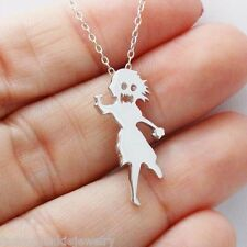 Zombie Girl Necklace - 925 Sterling Silver - Zombies Brains Dead Walker Gift NEW