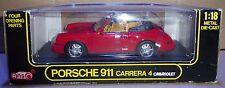 ANSON Diecast PORSCHE 911 CARRERA 4 Cabriolet 1/18 ROSSO (b8)
