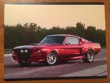 Tin Sign Vintage Metal Red 68 Mustang GT 500CR 2