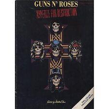 GUNS N' ROSES - Appetite for destruction - LIBRO SPARTITO SHEET 1987 GOOD COND.