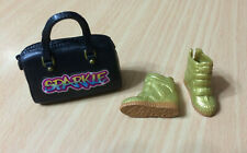 Barbie Doll Style Glam Luxe Fashion Gold Athletic Sneaker Shoe Sparkle Bag Purse
