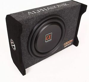 "Alphasonik AS12DF 12"" 1500 Watts 4Ohm Down Fire Shallow Mount Enclosed Subwoofer"