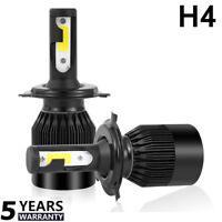 2x 6000K Blanco H4/9003/HB2 Coche 9000LM 72W Headlight LED Lámpara Bombillas Kit