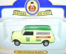 Oxford Die-Cast 1:43 AUSTIN MORRIS MINI PANEL VAN GREEN SHIELD Commercial Car MB
