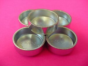 "Fit AMC Auto 5pk 1"" Freeze Expansion Plugs Zinc Plated Steel Engine Cylinder NOS"