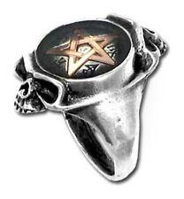 Alchemy Gothic Ring Duality Pentagram Schädel Größe: N (14/54)