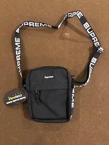 Supreme Shoulder Bag (SS18) Black 100% Authentic