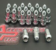 20 Pc Chevy S-10 BULLET CHROME AFTERMARKET ACORN LUG NUTS 12mx1.50 Part # 1407