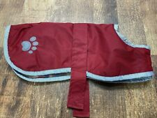 Zack & Zoey Noreaster Warm Reversible Waterproof Reflective Blanket Jacket Red M