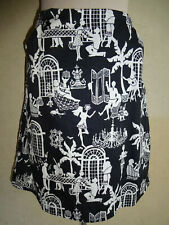 Womens Lilly Pulitzer Skirt Late Night Toile Size 4 Lined Black White