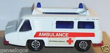 CORGI TOYS MOTORWAY SERVICE AMBULANCE CROIX ROUGE ACCIDENT 1973 HI SPEED REF 700