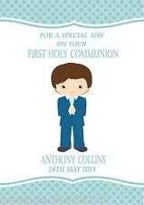 Personalised Boy Communion Card Design 4