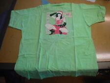 NOS USA Sport Wear Naughty or Nice Shirt T-Shirt Size XL Green Pink White