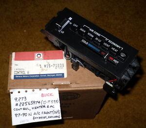 1987-90 Buick Skylark/Somerset AC/Heater Control Panel NOS 22565974