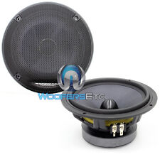 "CX64 V.2 IMAGE DYNAMICS 6.5"" CAR AUDIO 4 OHM MID BASS SPEAKERS & GRILLS PAIR NEW"