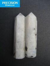 2 x Rainbow Moonstone Healing Magic Grid Pencil Point Gemstone Crystal Generator