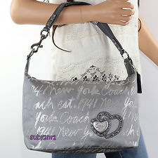 NWT Coach Poppy Lurex Signature Script New York Shoulder Bag Hobo F17472 RARE