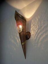 60 cm! applique torche murale Marocaine fer patiné cuivre b2 lampe lanterne