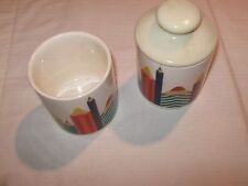 CARRIGALINE POTTERY , CORK IRELAND , Colored Pencil Cup , Lot of 2
