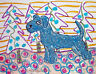 KERRY BLUE TERRIER Christmas Holiday Pop Art Print 8x10 Dog Collectible Modern