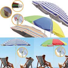 Garden Beach Patio Tilting Tilt Umbrella Parasol Sun Shade Protection UPF40 1.8M