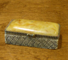 Oriental Trinket Box #S02004 Natural Stone Rectangle Box, NEW from Retail Store