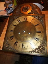 Antiique-Brass-Grandfather Clock Dial-Ca.1790-To Restore-#P720