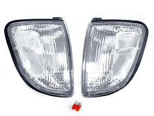 DEPO 97 98 99 00 TOYOTA TACOMA 2WD NON-PRERUNNER FRONT CLEAR CORNER LIGHTS NEW