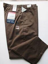 Men's Windham Pointe Brown Pants Plain Front , Size 40x29   Big&Tall ,Cotton